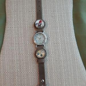 Snap button watch